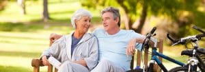 Aging Couple on Bench